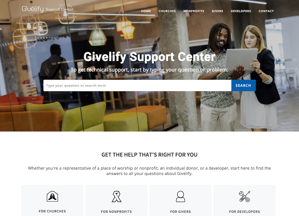 Givelify Support Center