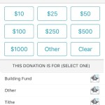 Recurring giving for iOS