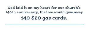 Digital fundraising helped this church give way free gas cards!