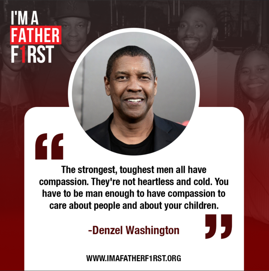 Denzel Washington is featured on the I'm A Father First Website.